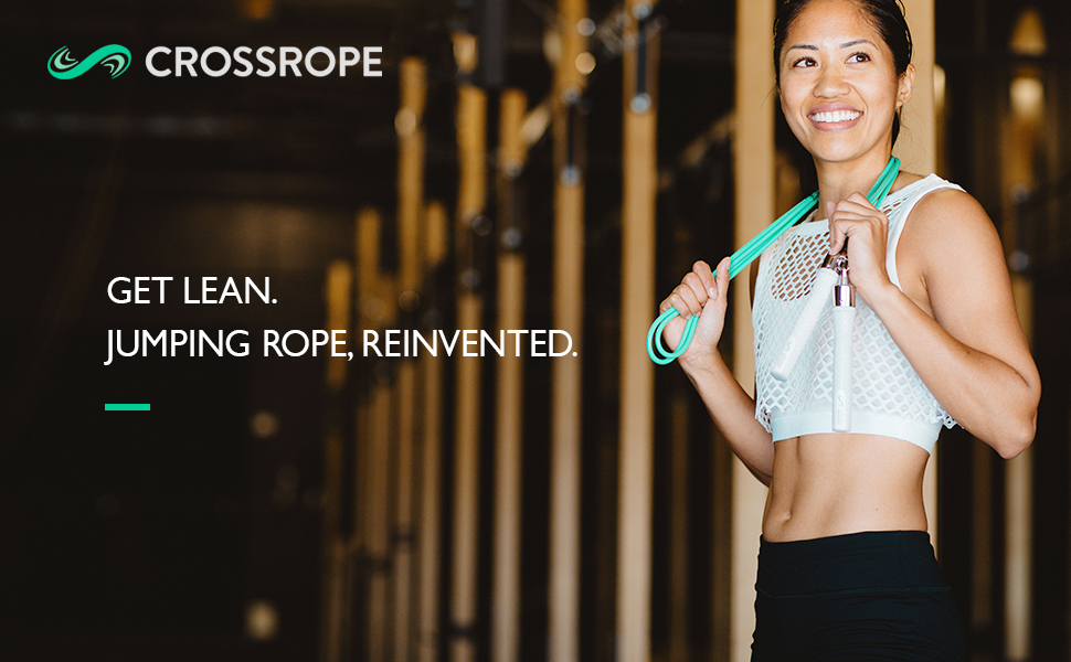 Amazoncom Crossrope Get Lean Weighted Jump Rope Set Sports