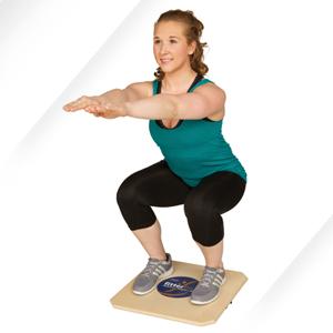 woman on balance boards