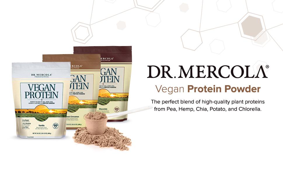 Dr. Mercola Vegan Proteínas en Polvo Sweet Canela – Mezcla ...