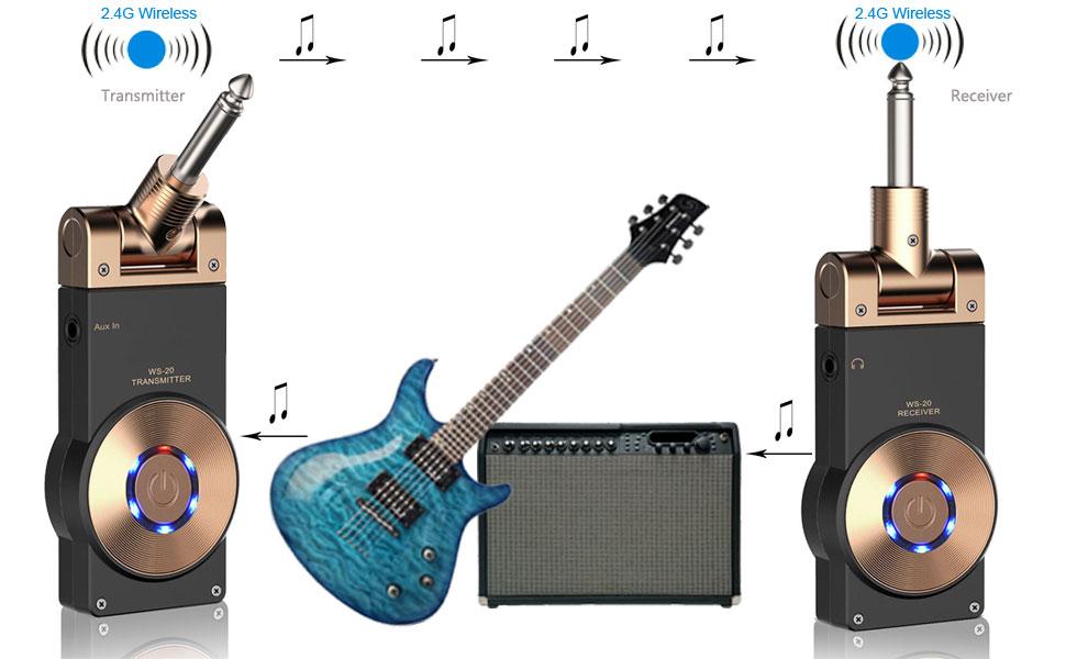 Wireless Guitar System Any Good : getaria 2 4ghz wireless guitar system rechargeable digital transmitter receiver for ~ Vivirlamusica.com Haus und Dekorationen