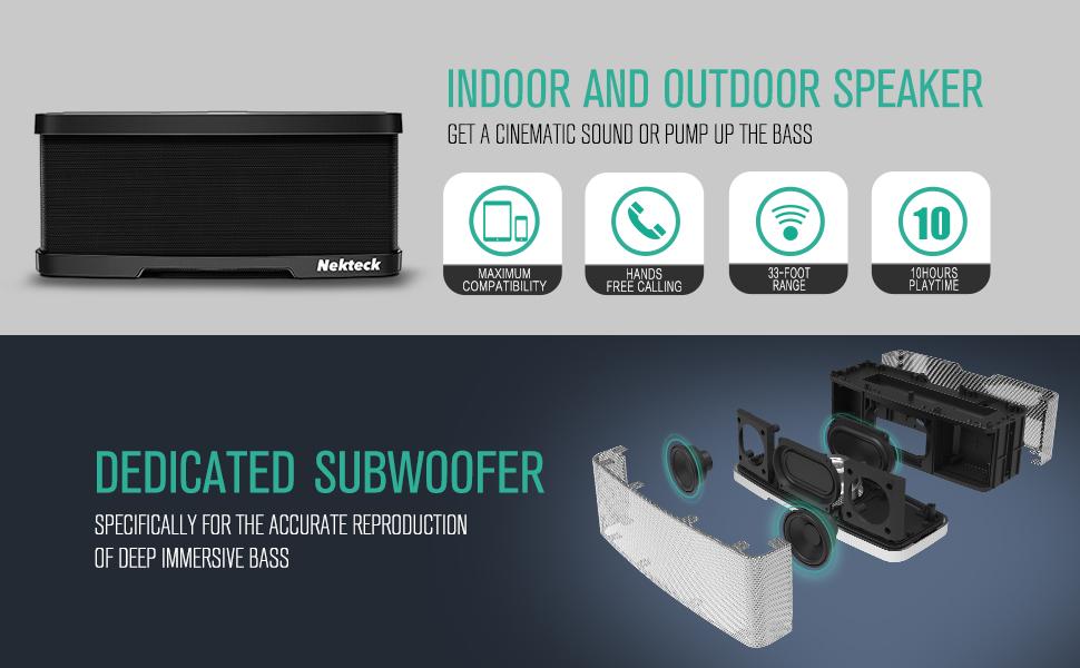 Nekteck NK-S1 Bluetooth Speakers 2 1 Channel Wireless