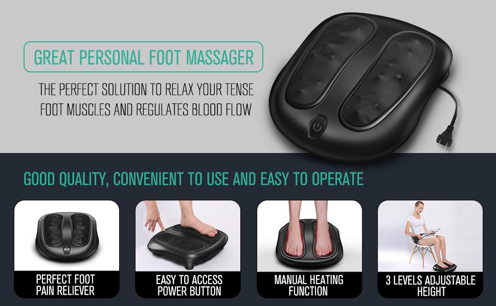 Nekteck Foot Massager Deep Kneading Shiatsu Therapy Massage With