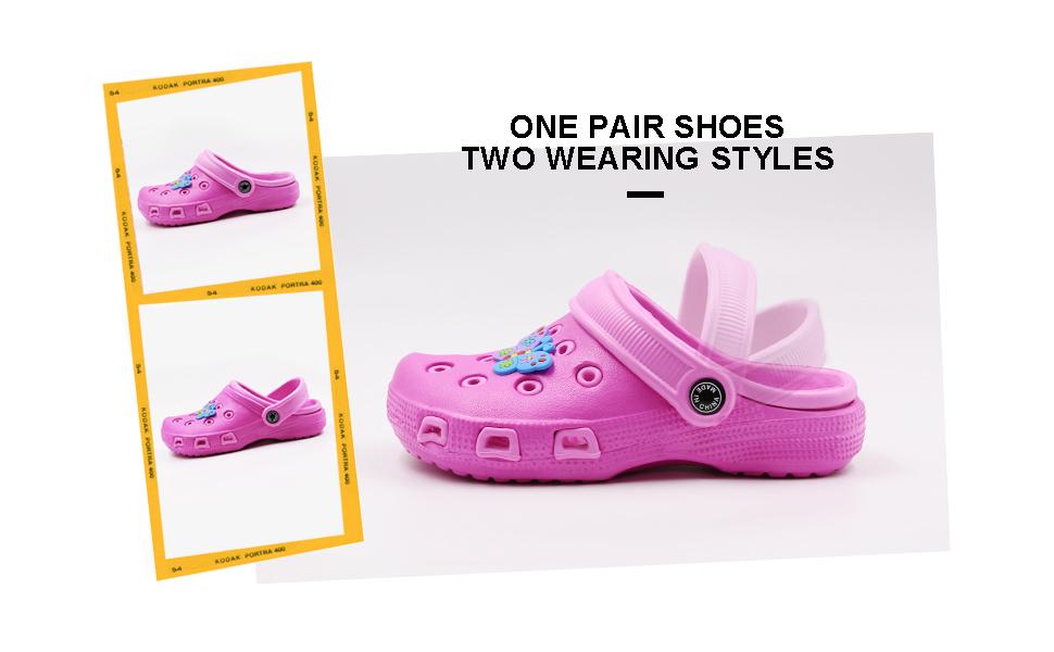 10d966a4ba5c Kid s Cute Clog Cartoon Slide Sandals Garden Slip On Water Shoes Children  Slide Beach Pool Shower Slippers Mules. 1. 2. 3