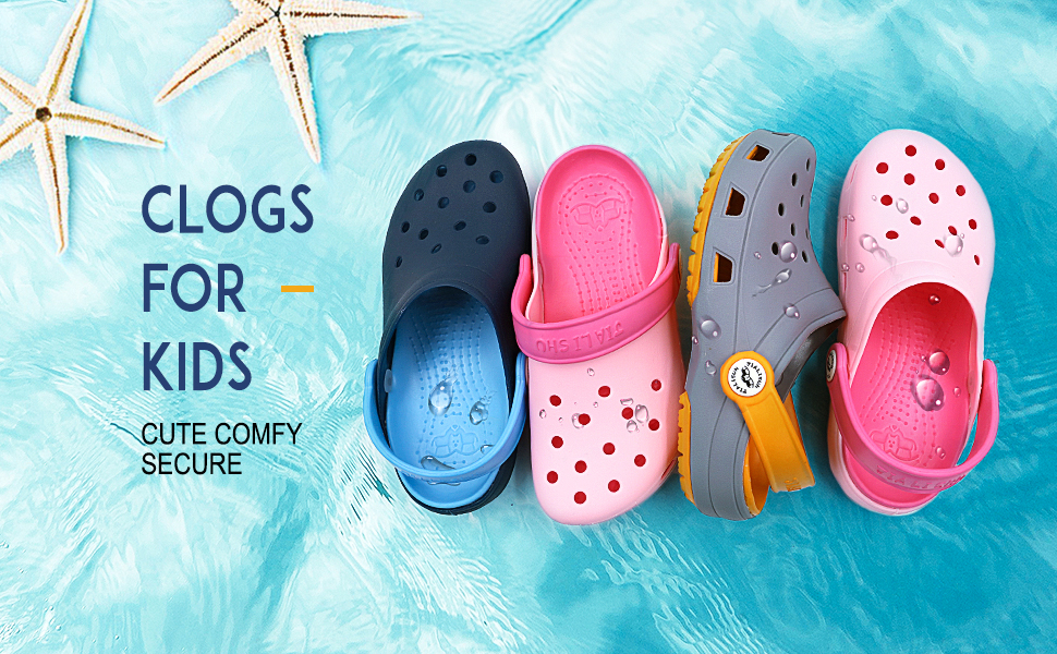 Kids Beach Clogs Boys Comfy Pool Flip Flop Slippers New Girls Garden Mules Shoes