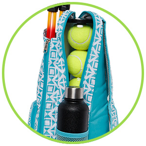 LISH Deuce Tennis Racket Backpack - Womens Geometric Square Printed Tennis Racquet Holder Bag