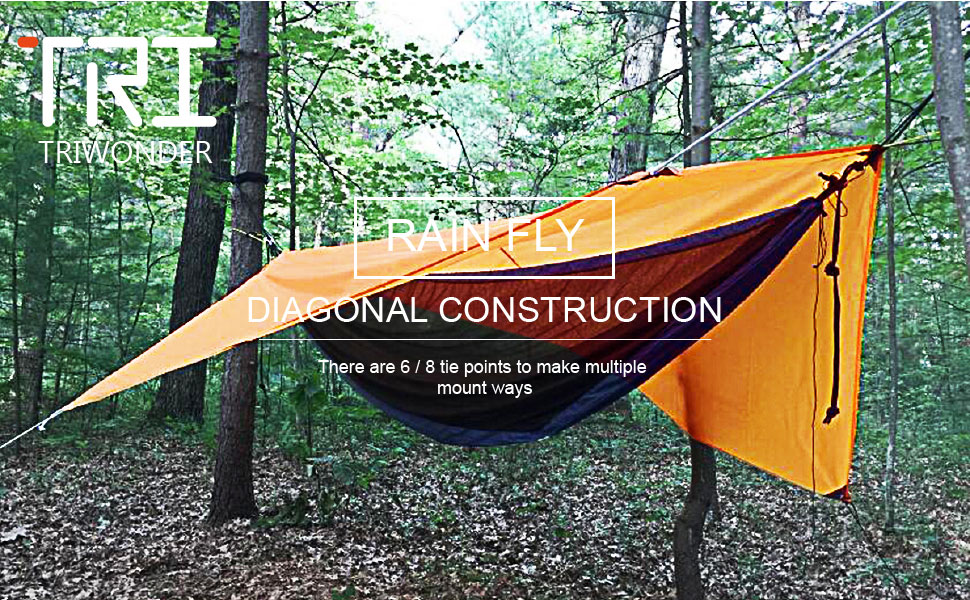 Product Description & Amazon.com : Triwonder Waterproof Hammock Rain Fly Tent Tarp ...