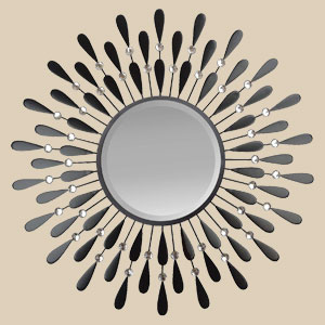 Black Drop Wall Mirror
