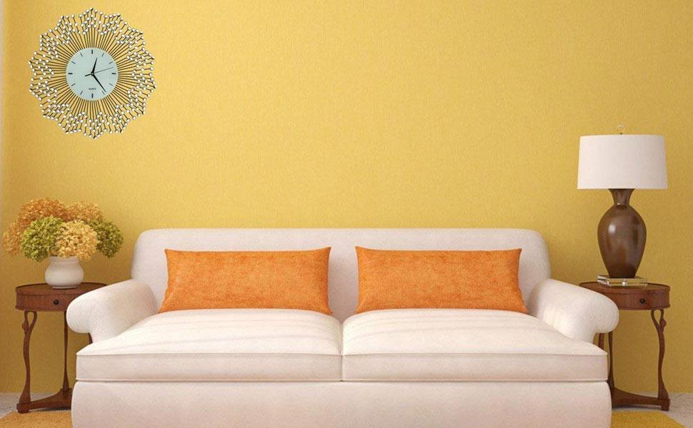 "Amazon.com: LuLu Decor, Celebration Decorative Wall Clock 23"", White ..."