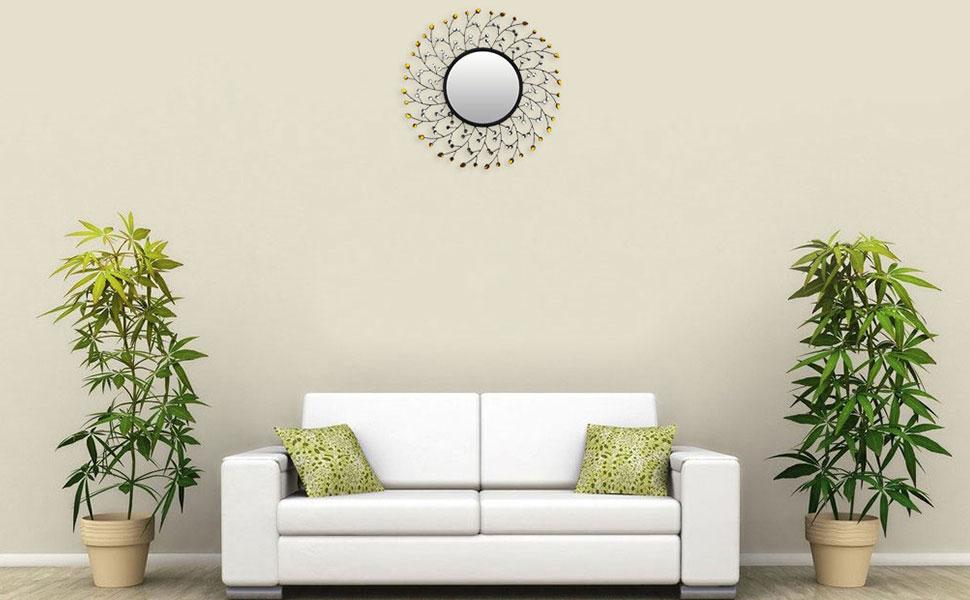 Amazon.com: LuLu Decor, Sun Decorative Metal Wall Clock ...