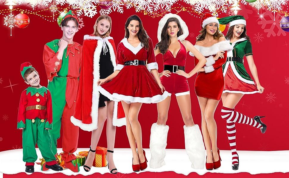 Amazon.com: Quesera - Disfraz de Papá Noel para mujer ...