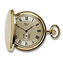 Oxford Hunter Case Pocket Watch with Sub-Seconds - Gold