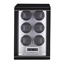 Ebony Six Watch Winder Rapport Turner