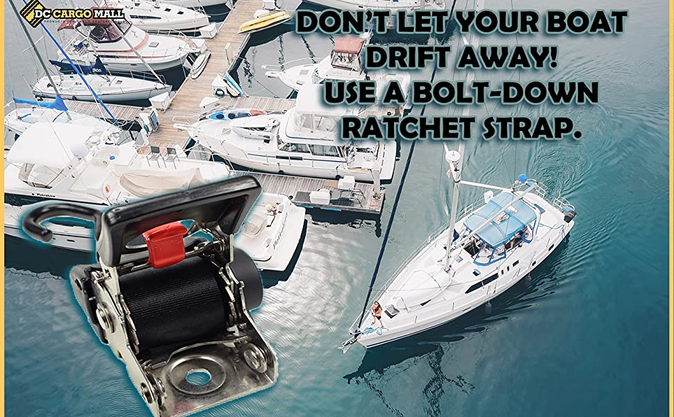 boat transom marine stainless straps auto retractable