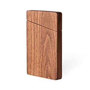wooden business card case