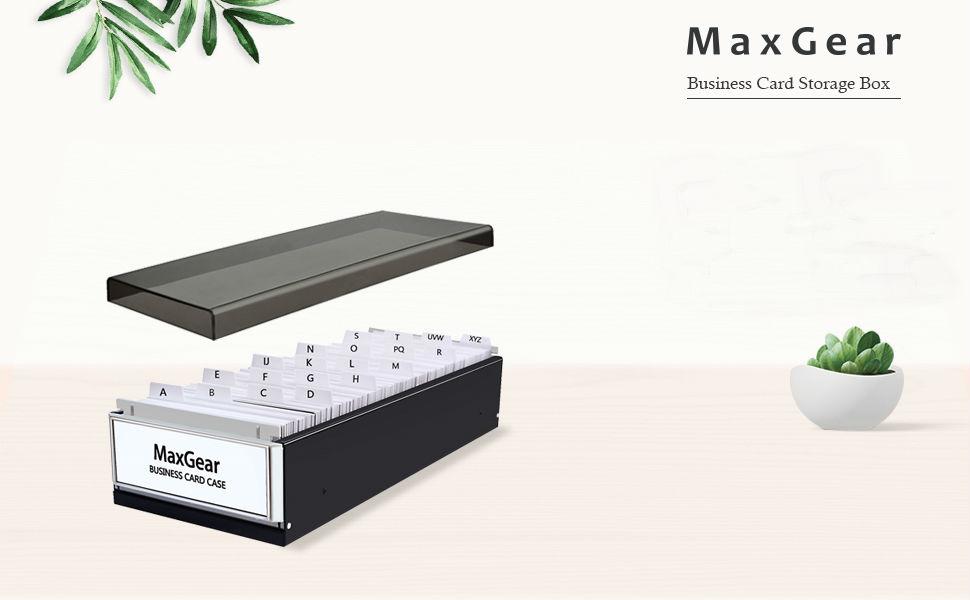 Maxgear Business Card Organizer Business Card File Name Card Case