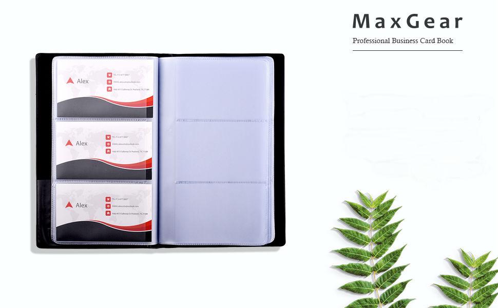 Amazon.com : MaxGear Business Card Book Holder, Journal Business ...