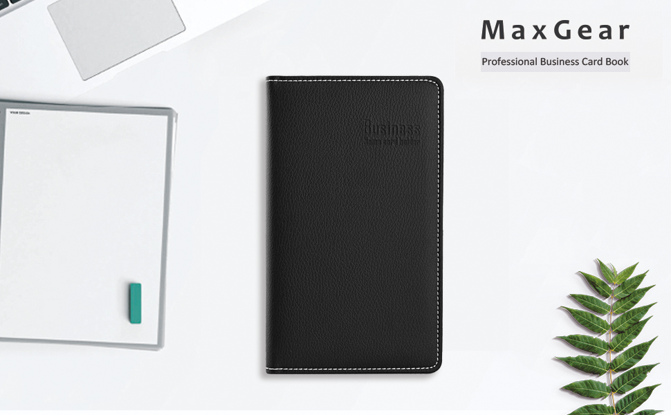 Amazon.com : Maxgear Professional Leather Business Card Book Holder ...