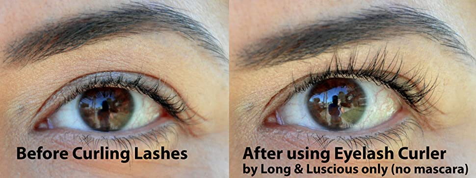 eyelash curler results. eyelash curler with built-in comb attachment eyelash curler results