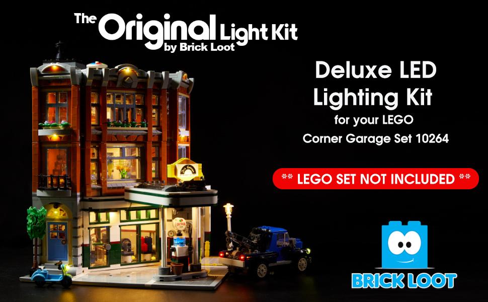 HZQM Bricks Light Kit for Creator Expert Corner Garage Building Blocks Model Compatible with Lego 10264 Lego Set Not Included