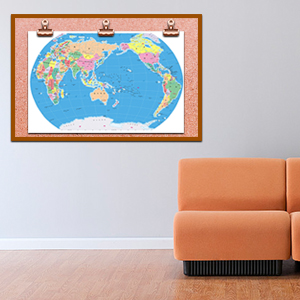 holding world map