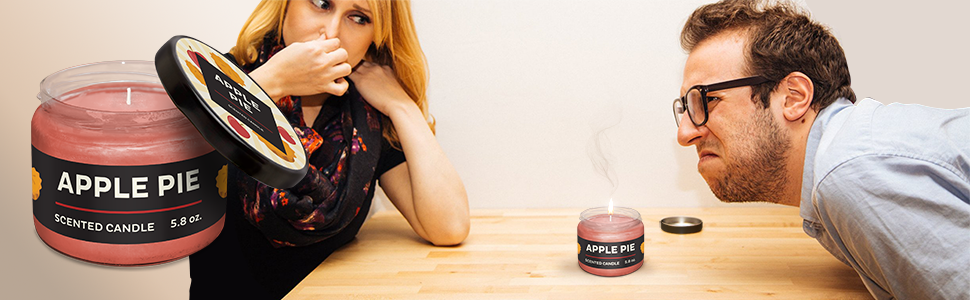 Amazon com: Prank Candles Good-to-Bad Scented Candle, Apple Pie to