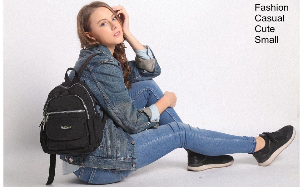 Amazon.com: AOTIAN Mini Nylon Women Backpacks Casual