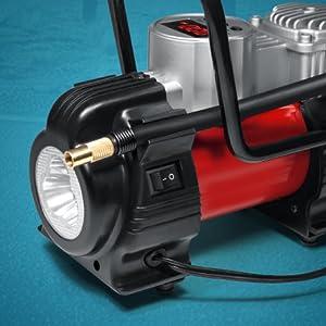 Flash led light small air compressor use nighttime