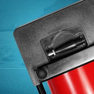 Sports ball accessory nozzle set air compressor compact