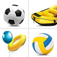 air compressor inflates balls toys life-saving jacket life-saving ring buoy fishing boat useful item