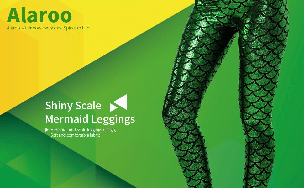 sports shoes 2403c dc932 Alaroo Women s Mermaid Leggings S-4XL