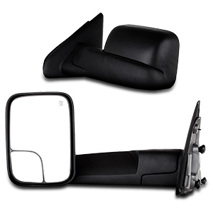 SCITOO Compatible fit for Towing Mirrors 1998-2002 Dodge Ram 2500 3500 1998-2001 Dodge Ram 1500 Power Heated Side Pair Set Mirrors