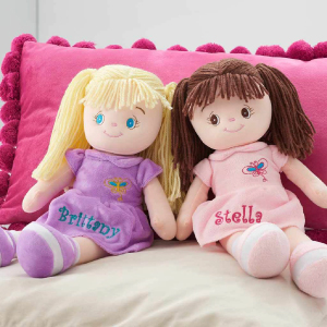 Dibsies Personalized Butterfly Snuggle Doll with embroidered features, safe for all ages, 15 Inches