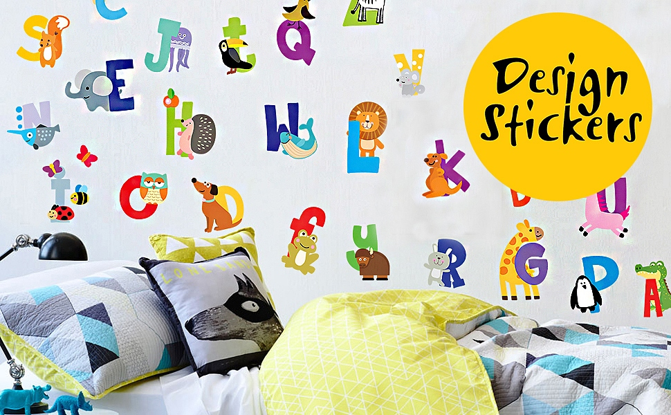 Alphabet Wall Decals   Entertain Your Kid Well Into The Preschool Years. Part 59