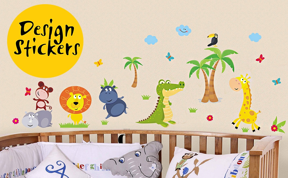 Kids Adore Animals And With Our Jungle Wall Decals It Is Fun To Pretend  Jungles Around As Well.