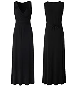 eef1767a214 A Line Maxi Dress This plain maxi dress is gorgeous! What we love most is  that it is slim fitted in the top and flare at the bottom