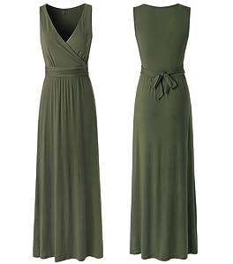 590a7cb83ab Zattcas Womens Contrast Sleeveless Empire Chevron Striped Maxi Long ...