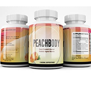 Peachlife Inc Probiotic Vaginal Suppositories Peach Scented Flavored Yeast infection treatment