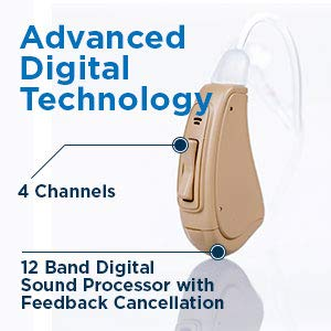 noise canceling Digital Circuitry 4 Channels,12 Band Digital Sound Processor Noise Reduction WDRC