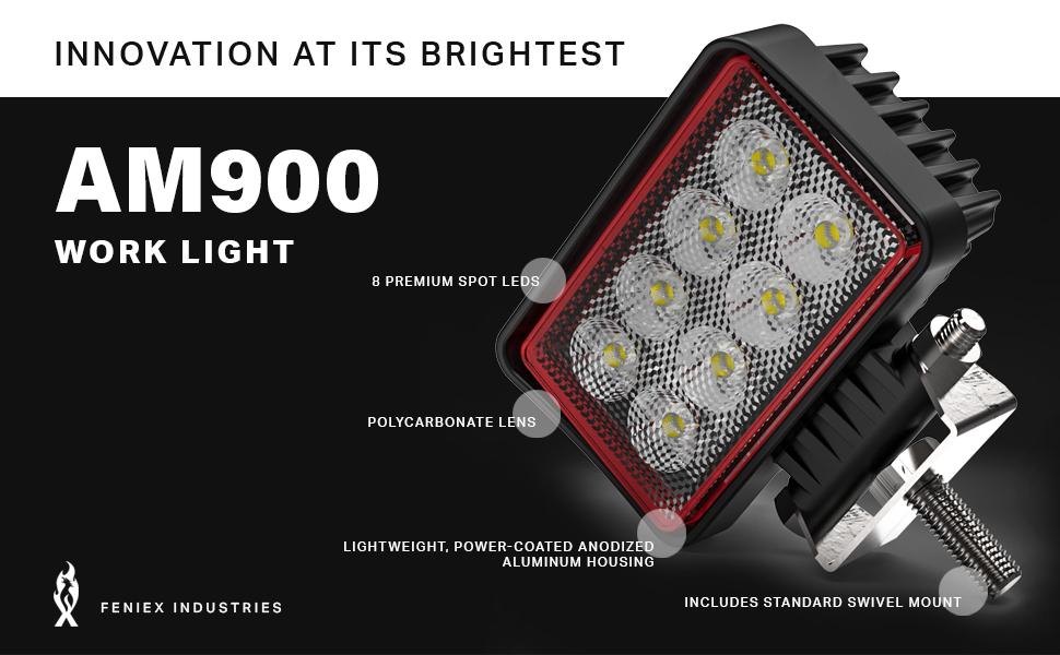 WORK LIGHT, FENIEX INDUSTRIES, CONSTRUCTION, UTILITY, LED, LIGHTING, SAE INTERNATIONAL, 5 YEAR