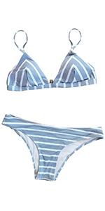 72a2a4a9f0247 Amazon.com  CUPSHE Women s Falbala Design Bikini Set  Clothing