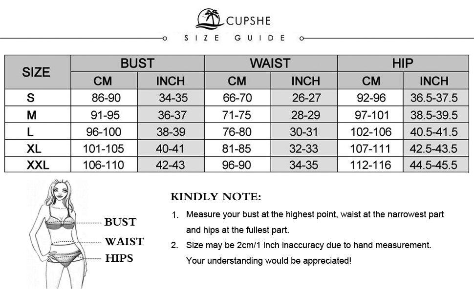 CUPSHE Women's Rambling Rose High-Waisted Push Up Bikini Set, Kokania - Best Online Store