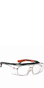 NoCry Over-Glasses Safety Glasses - with Clear Anti