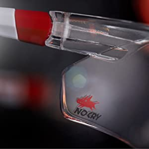 NoCry Safety Glasses, White & Red Frames