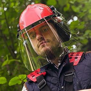 forrestry guard helmit huskvarna jackson landscaping loggers mining muff proof protect pyramex