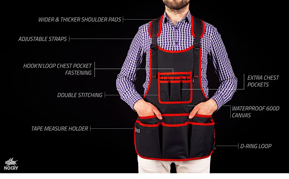 NoCry Heavy Duty Work Apron features