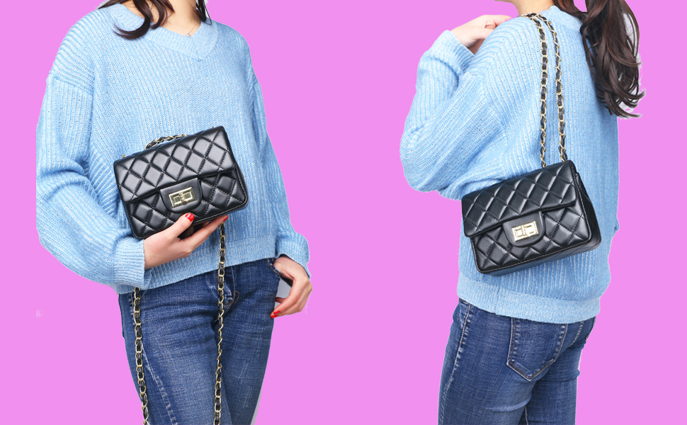53d3cae8ebc Women Volcanic Rock Women Quilted Crossbody Bag Girls Side Purse and Shoulder  Handbags Designer Clutch with Chain 10449984