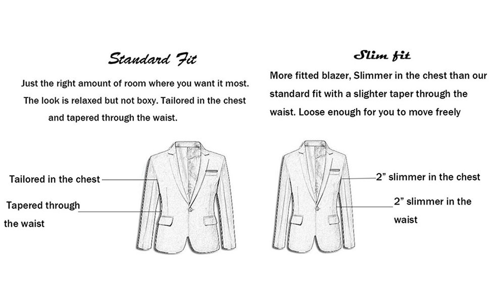 This blazer is slim fit style