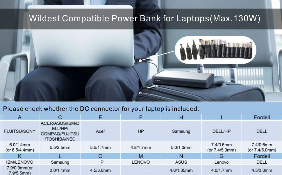 laptop battery pack power bank for laptop