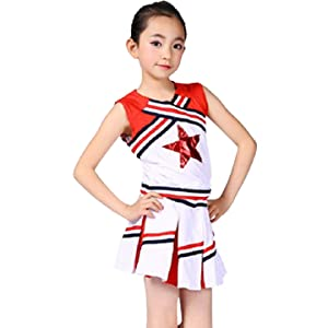 Details about  /Girl Cheerleader Costume Fun Varsity Cheer Dress Party Halloween Cosplay Uniform
