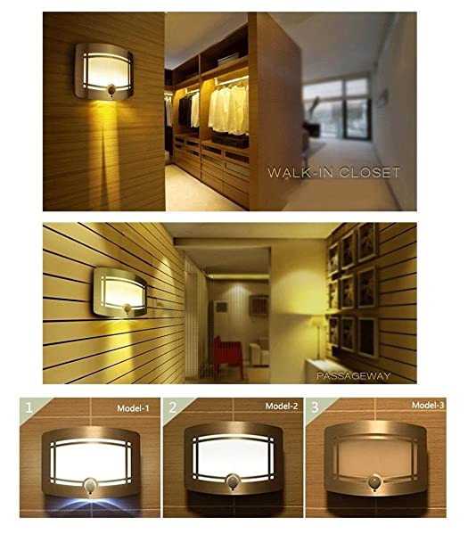 Signstek 10 LED Wireless Light-operated Motion Sensor Activated Luxury Aluminum Stick-on Anywhere Wall L& Battery Operated Sconce Wall Light (1) & Signstek 10 LED Wireless Light-operated Motion Sensor Activated ... azcodes.com